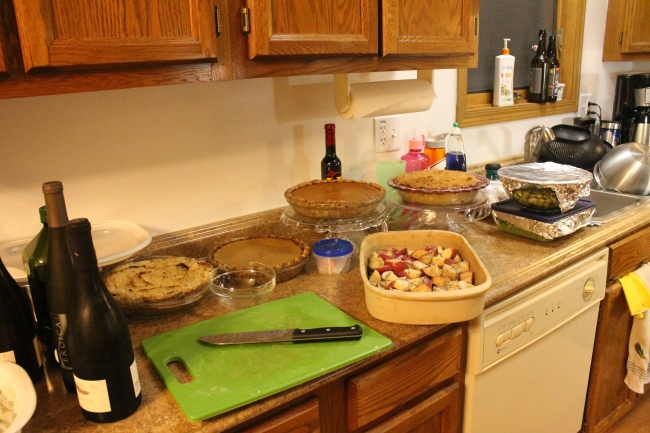 Some of the sides and pies. We ate well!