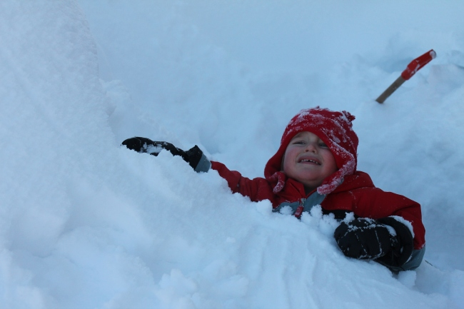 He was having fun. This looks to me like he's falling into a crevasse.